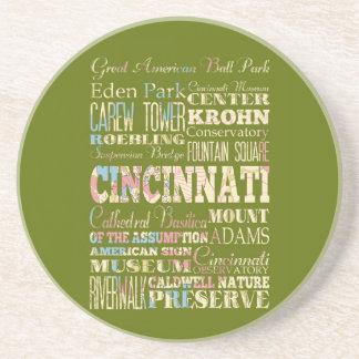 Atracciones y lugares famosos de Cincinnati, Ohio Posavasos Manualidades
