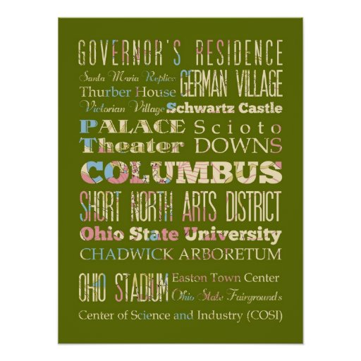 Atracciones y lugares famosos de Columbus, Georgia Póster