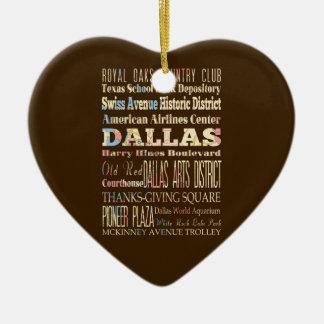 Atracciones y lugares famosos de Dallas, Tejas Adorno Navideño De Cerámica En Forma De Corazón