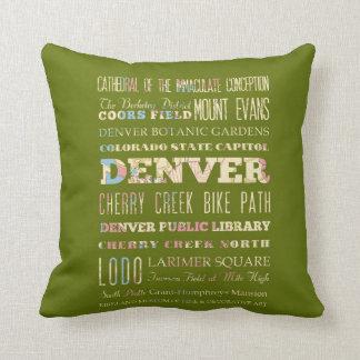 Atracciones y lugares famosos de Denver, Colorado Almohadas