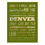 Atracciones y lugares famosos de Denver, Colorado Postal