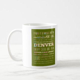 Atracciones y lugares famosos de Denver, Colorado Taza Clásica