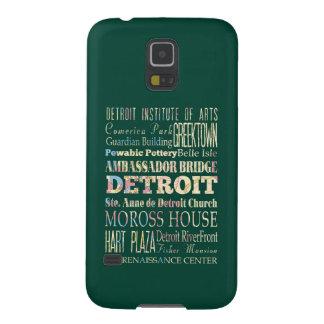 Atracciones y lugares famosos de Detroit, Michigan Funda Para Galaxy S5