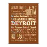 Atracciones y lugares famosos de Detroit, Michigan Lona Envuelta Para Galerías