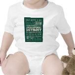 Atracciones y lugares famosos de Detroit, Michigan Traje De Bebé