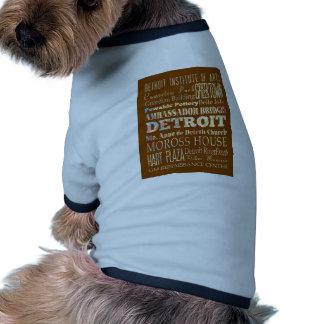 Atracciones y lugares famosos de Detroit Michigan Ropa Perro
