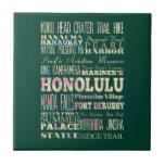 Atracciones y lugares famosos de Honolulu, Hawaii Tejas Cerámicas