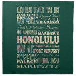 Atracciones y lugares famosos de Honolulu, Hawaii Servilleta