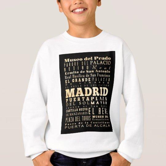 Atracciones y lugares famosos de Madrid, España Sudadera