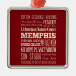 Atracciones y lugares famosos de Memphis, Adorno Navideño Cuadrado De Metal