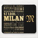 Atracciones y lugares famosos de Milano, Italia Tapetes De Raton