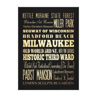Atracciones y lugares famosos de Milwaukee, Wiscon Impresión En Lienzo
