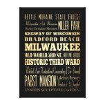 Atracciones y lugares famosos de Milwaukee, Wiscon Impresión En Lienzo Estirada