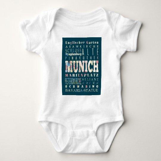 Atracciones y lugares famosos de Munich, Alemania Body Para Bebé