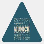 Atracciones y lugares famosos de Munich, Alemania Pegatina Triangular