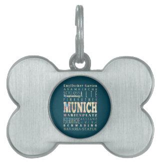 Atracciones y lugares famosos de Munich, Alemania Placas De Mascota