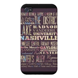 Atracciones y lugares famosos de Nashville iPhone 4 Fundas
