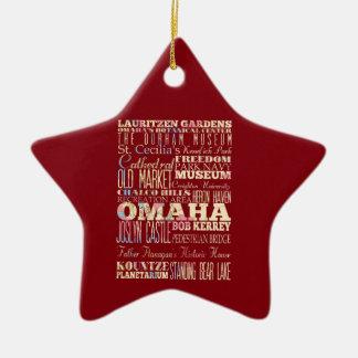 Atracciones y lugares famosos de Omaha, Nebraska Adorno De Cerámica En Forma De Estrella