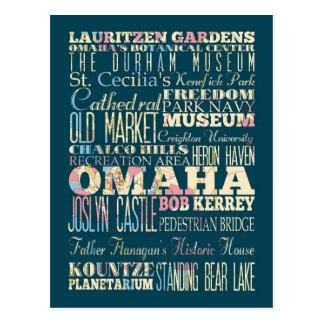 Atracciones y lugares famosos de Omaha, Nebraska Tarjetas Postales