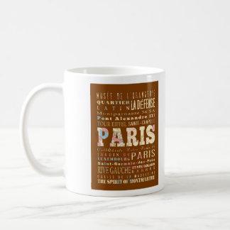 Atracciones y lugares famosos de París, Francia Taza De Café