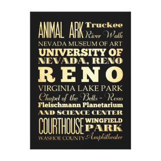 Atracciones y lugares famosos de Reno Nevada Lona Estirada Galerías