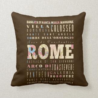 Atracciones y lugares famosos de Roma, Italia Cojin