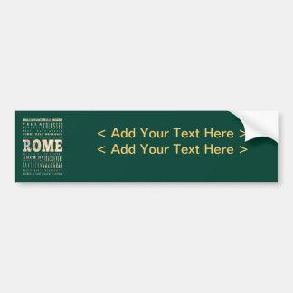 Atracciones y lugares famosos de Roma, Italia Pegatina Para Auto