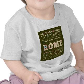 Atracciones y lugares famosos de Roma Italia Camiseta