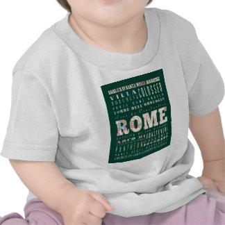 Atracciones y lugares famosos de Roma Italia Camisetas
