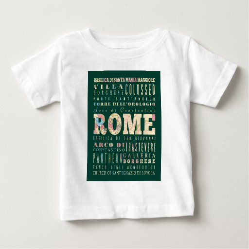 Atracciones y lugares famosos de Roma, Italia Remeras