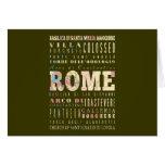Atracciones y lugares famosos de Roma, Italia Tarjetas