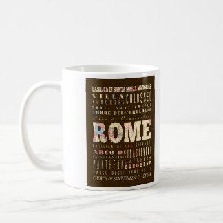 Atracciones y lugares famosos de Roma, Italia Taza