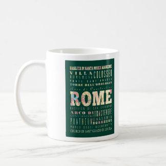 Atracciones y lugares famosos de Roma, Italia Taza De Café