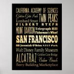 Atracciones y lugares famosos de San Francisco, CA Impresiones