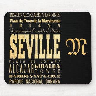 Atracciones y lugares famosos de Sevilla, España Alfombrillas De Ratón