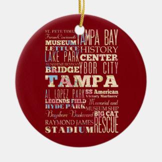 Atracciones y lugares famosos de Tampa, la Florida Adorno
