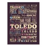 Atracciones y lugares famosos de Toledo, Ohio Tarjeta Postal