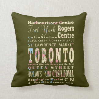 Atracciones y lugares famosos de Toronto, Canadá Cojines