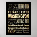 Atracciones y lugares famosos de Washington, NewYo Poster