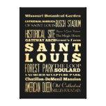 Atracciones y lugares famosos del Saint Louis Lienzo Envuelto Para Galerías