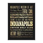 Atracciones y lugares famosos Indianapolis Impresión En Lienzo