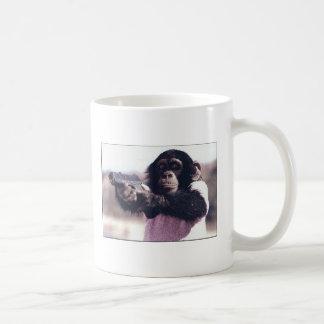 Atraco a mano armada del mono taza