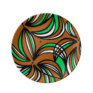 Atractivo maravilloso asombroso brillante platos de cerámica