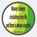 Atraiga al pegatina de la abundancia