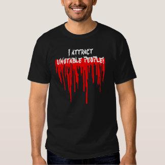 Atraigo la camiseta inestable de la gente remeras