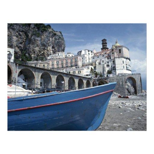 Atrani cerca de Amalfi, Italia Tarjetas Informativas