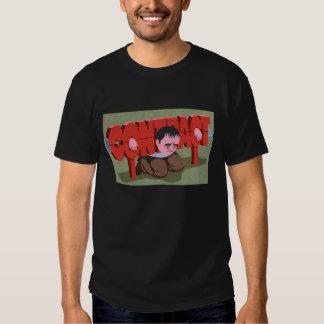 atrapado por diseños frescos de la camiseta del remera