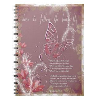 Atrévase a seguir el cuaderno de la mariposa