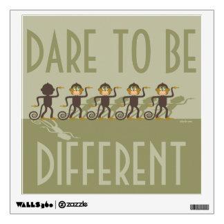 Atrévase a ser diferente, monos, safari vinilo adhesivo