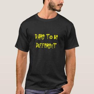 Atrévase a ser diversos hombres/camisetas playera
